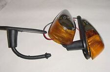 VW beetle bug 1968-1969 turn signal assembly with amber lens pair chrome complet