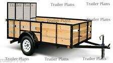 #1 TRAILER PLANS 6x8 Single Axle Utility Trailer Plans,Instructions,Save $ Easy