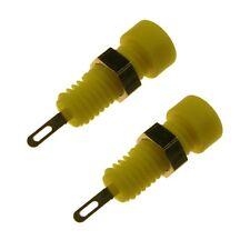 2 Miniatur-Buchse MBI 1 Hirschmann 2mm Buchsen Einbaubuchse MBI1 gelb 107163