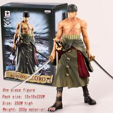 ONE PIECE FIGURE ZORO NEW WORLD 25 CM MASTER STARS MONKEY D LUFFY STATUE STATUA