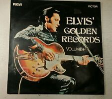RARE ELVIS L.P ' ELVIS' GOLDEN RECORDS VOL.1' RCA LABEL CAT.No. SF 8129 EXC/EXC
