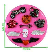 Biker Retro Hells Angel Silicone Mould by Fairie Blessings