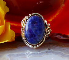 Ring Sterling Silber 925 Stein Sodalith blau Reproduktion Native American