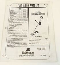 McCulloch Illustrated Parts List 28cc and 32cc Straight Shaft String Trimmer
