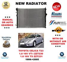 FOR TOYOTA CELICA T23 1.8 16V VT-i TS ZZT230 ZZT231 1999- 2005 NEW RADIATOR