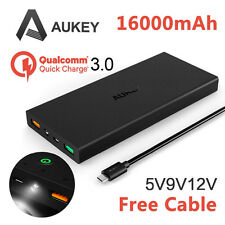 AUKEY Portable External Battery 16000mAh Power Bank Qualcomm Quick Charger 3.0