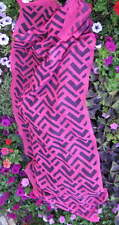 "ROSE FUSCHIA Long SCARF 74 x 26"" 100% Viscose SOFT durable"