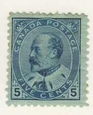 Canada Stamp Scott # 91 5-Cents King Edward VII MH