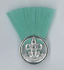 PHILIPPINE SCOUTS - SCOUT LEADER / MASTER (GREEN COLOUR) Metal Plume / Hat Patch