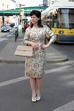 Damen Kleid mit Jäckchen dress Kostüm Asia Look gold 50er True VINTAGE 50s women