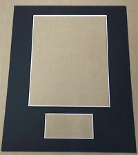 1 - CUSTOM CUT 11X14 MAT FOR 8X10 PHOTO & 3X5 INDEX CARD (YOU PICK THE COLORS)