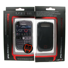 Phone Case Shell Blackberry Curve 8900 Venom Rubberised Armour Cover Black