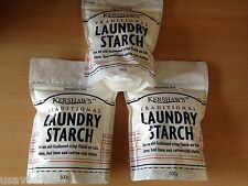 1.5KG Kershaw's Traditional Laundry Starch 3 x 500g Resealable Pack *3 Packs*
