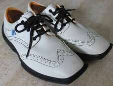 "JOHN FLUEVOG Men's ""Future Angel"" White Leather Wing Tip Shoes SZ 9 MED"