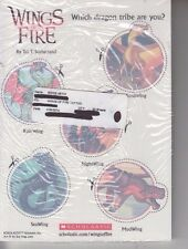 Package of 25 Scholastic Wings Of Fire Dragon Temporary Tattoos - 5 Per Sheet