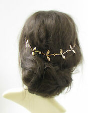 Gold Leaf Hair Vine Headdress Headpiece Grecian Bridal Vintage Festival Boho 359