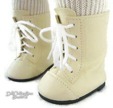 "Cream 1800 Boots Shoes for 18"" American Girl Doll Clothes Highest Quality"