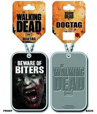 AMC The Walking Dead Dog Tag Biters Zombie Horror Gore Necklace New
