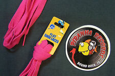 "Hot Pink Thin Flat 54"" x (3/8""-5/8"") JN Shoelaces Shoe Strings Piranha Records"