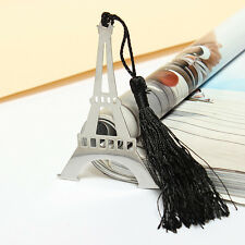 1PC Eiffel Tower Alloy Bookmark Creative Exquisite Ribbon Tassel Box Gift HOT