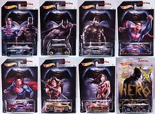 2016 Hot Wheels Walmart Exclusive Batman V Superman Complete Set with CHASE