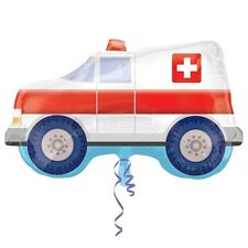 "Amscan 24"" Ambulance Original Balloon Medical Themed Rescue Vehicles Decoration"