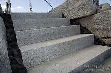 Granit Blockstufen 140x35x15cm grau  Granitstufen Treppen Mauersteine Naturstein
