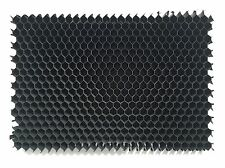 "Qty (3) 25° Aluminum Honeycomb Grid - DIY - 8""x 6.5"" - Diffuser, Black finish"