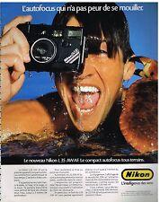 Publicité Advertising 1986 Appareil photo Nikon L35 AW AF
