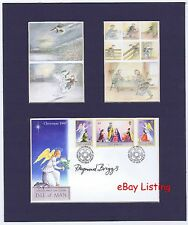 RAYMOND BRIGGS   Hand Signed  Blue Matted Display  Christmas 1997 Postal Cover