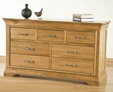 French solid oak furniture 3 over 4 bedroom chest of drawers