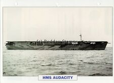 1939 HMS AUDACITY Aircraft Carrier Ship / GB Warship Photograph Maxi Card