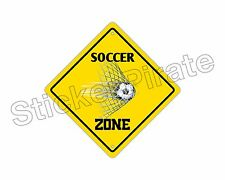 "*Aluminum* Soccer Zone Funny Metal Novelty Sign 12""x12"""