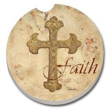 Faith Cross - Single Ceramic Car Coaster #92020