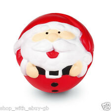 Novelty Santa Stress Ball Red - TOY BALL FATHER CHRISTMAS STOCKING FILLER