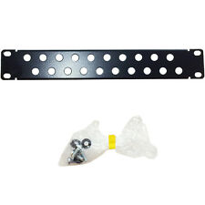 "11.5"" 1U Vented/20 Port Hole Blanking Mini Patch Module -Data Cabinet Chassis PA"