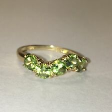 14k Gold Peridot Ring. Size 6