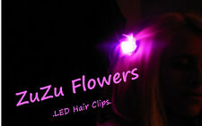3-Pack PINK/PURPLE Clip-in LED Lights - Flower Lites for Hair - Rainbow Favor