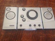 New * MINI COMPONENT SYSTEM * Radio, Alarm, Speakers * very lightweight