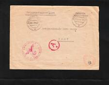 Germany WWII Munich Censor Tape Krieggefangen POW Nienburg 1944 to Red Cross  &