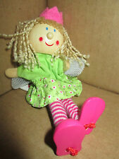 TOBAR QUALITY FAIRY FINGER PUPPET WITH WOODEN HEAD & LEGS BNWT STOCKING FILLER