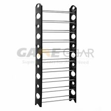 30 Pair 10 Tier Space Saving Storage Organizer Free Standing Shoe Tower Rack US