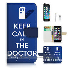 iPhone 6 / 6S (4.7') Flip Wallet Case Cover! P0706 Keep Calm Doctor