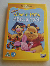 Disney Winnie The Pooh ABC's & 123's Disney DVD in Excellent Conditions