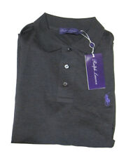 Ralph Lauren Purple Label Mens Equestrian Pony Logo Tailored Fit Polo Knit Shirt