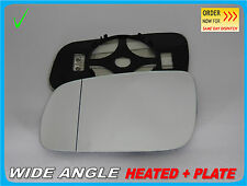 Wing Mirror Glass Volkswagen Bora 1998-2005 Wide Angle HEATED Left Side #1039