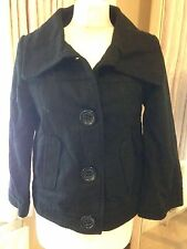 Black Short Jacket Thick Cotton Big Buttons 10 12