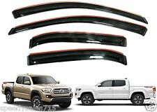 AVS 194768 In-Channel Vent Visors For 2016-2017 Toyota Tacoma Crew Cab New USA