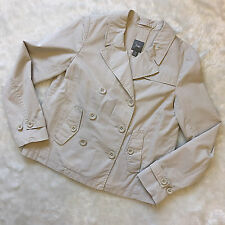 GAP Ladies Lightweight Swing Style Beige Jacket UK 10 Double Breasted Casual