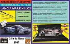 ANEXO DECAL 1/43 LANCIA LC2 CESARIO-WOLLEK-NANINI LE MANS 1985 (06)